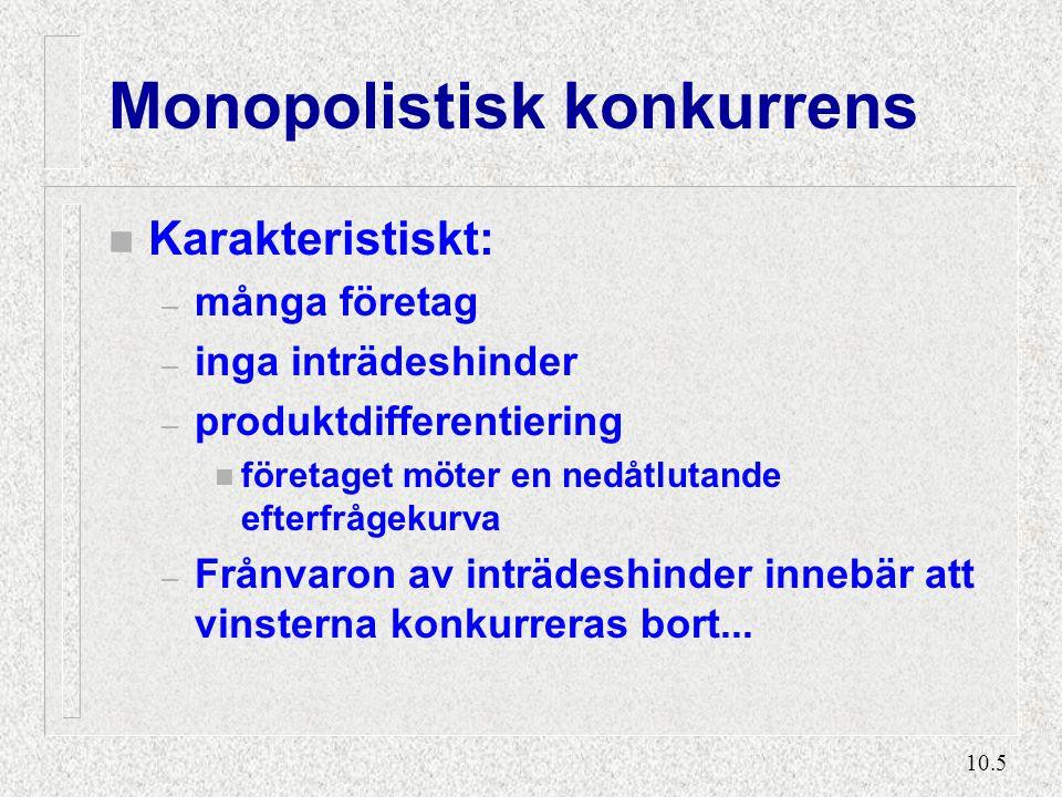 Monopolistisk konkurrens (2)