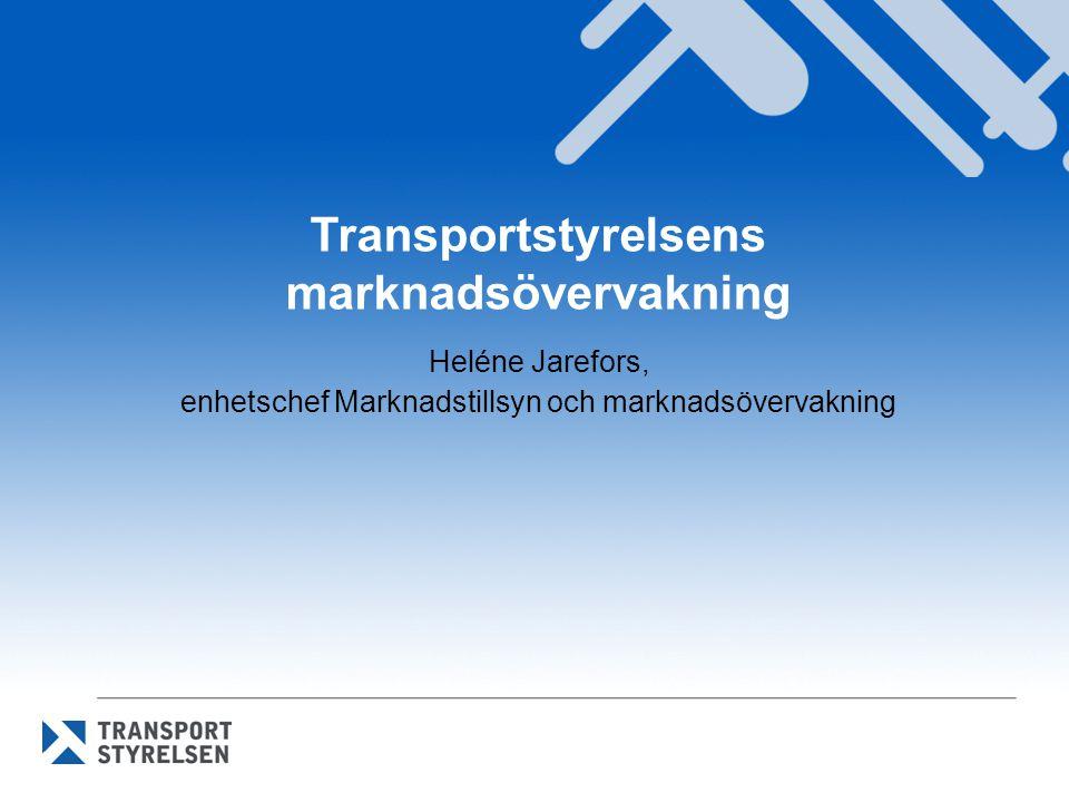 Transportstyrelsens marknadsövervakning