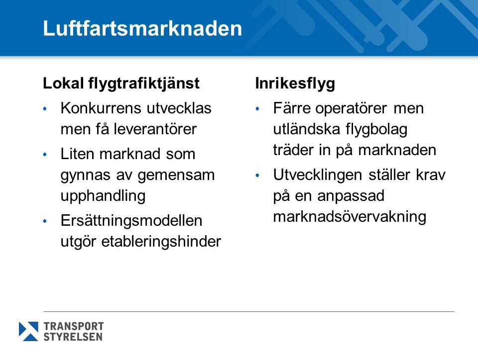 Luftfartsmarknaden Lokal flygtrafiktjänst