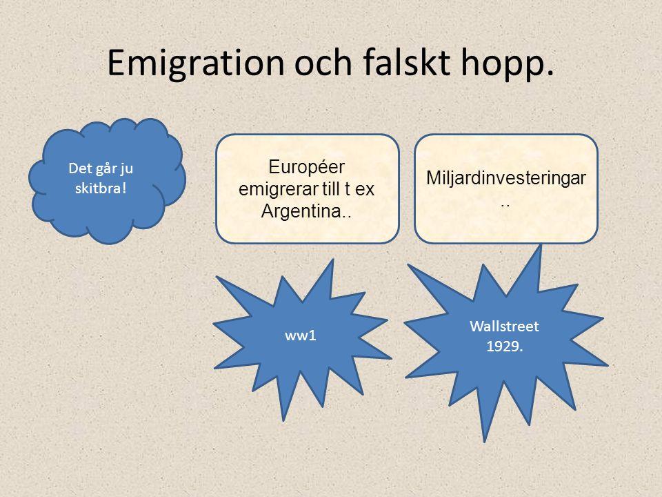 Emigration och falskt hopp.