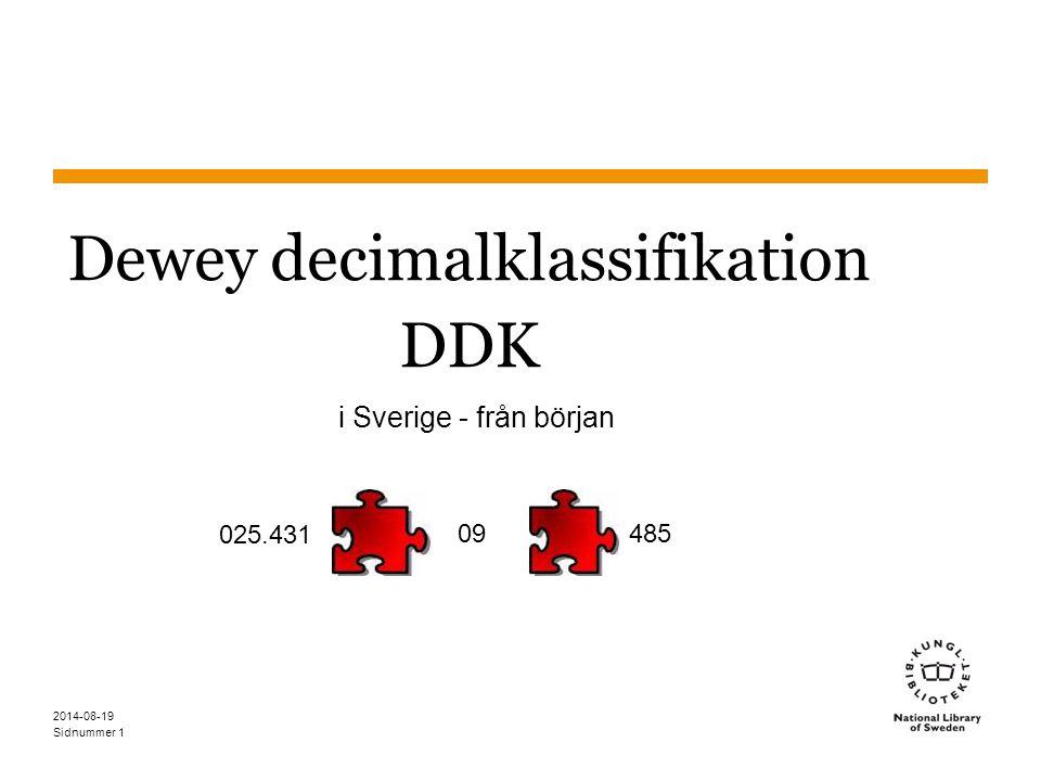 Dewey decimalklassifikation DDK