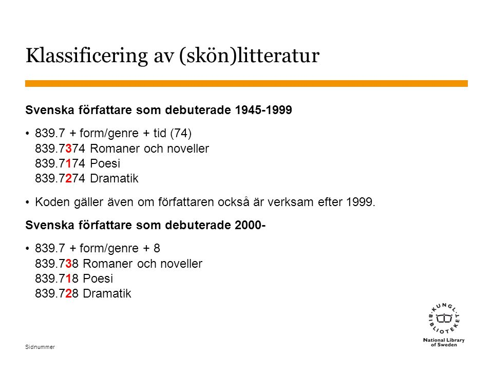 Klassificering av (skön)litteratur