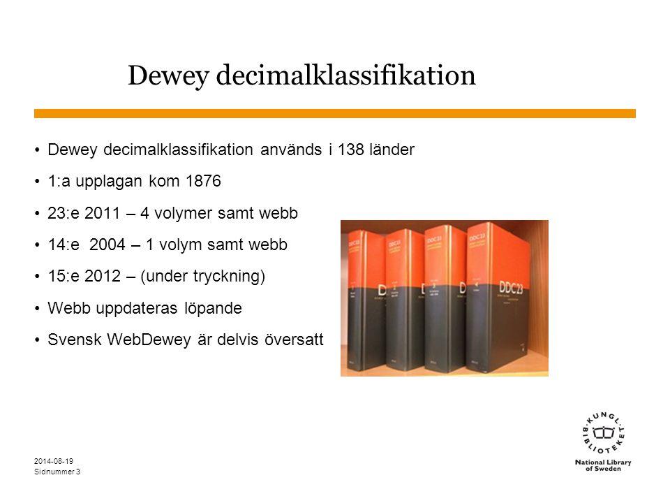 Dewey decimalklassifikation