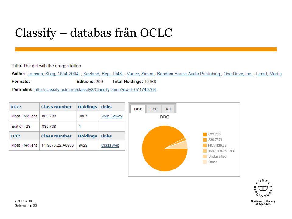Classify – databas från OCLC