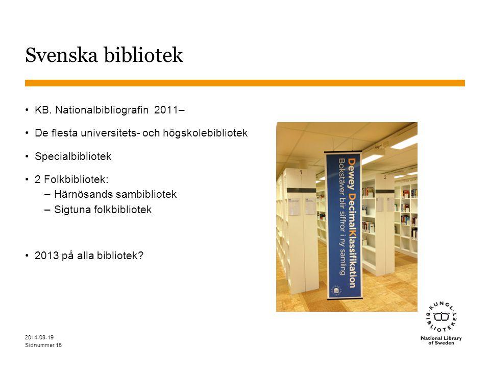 Svenska bibliotek KB. Nationalbibliografin 2011–