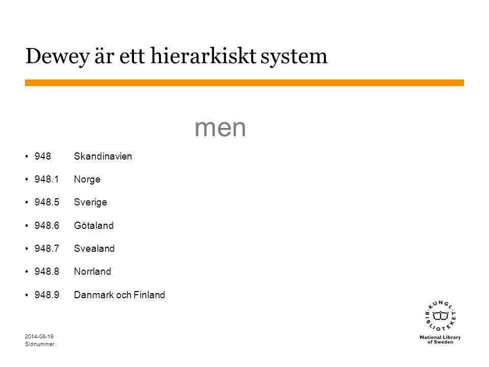 Dewey är ett hierarkiskt system
