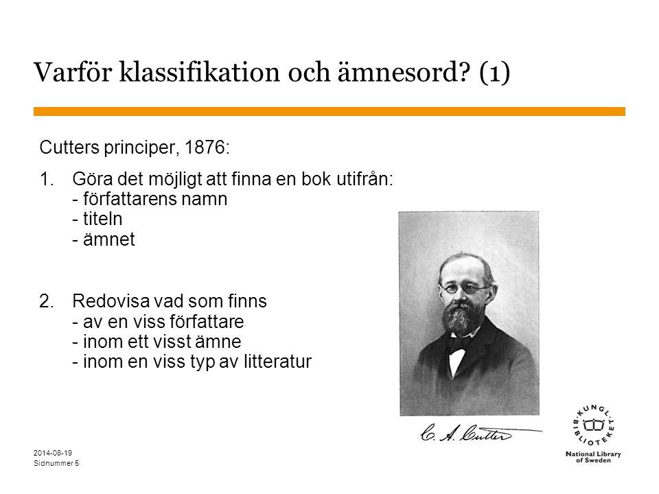 Varför klassifikation och ämnesord (1)