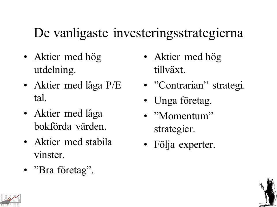De vanligaste investeringsstrategierna