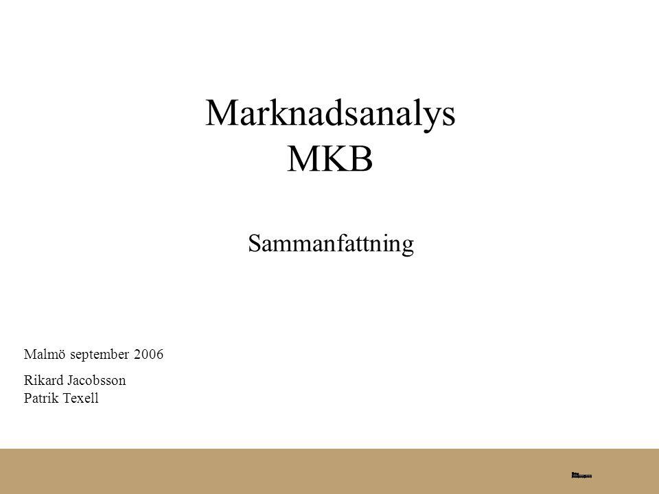 Marknadsanalys MKB Sammanfattning