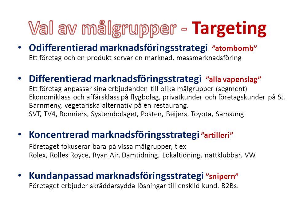 Val av målgrupper - Targeting