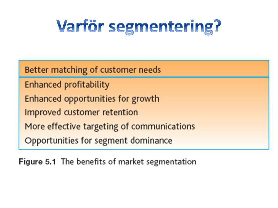 Varför segmentering