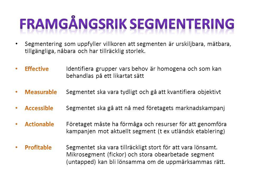 Framgångsrik segmentering