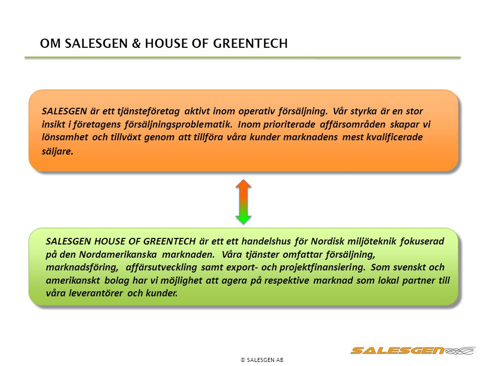 OM SALESGEN & HOUSE OF GREENTECH