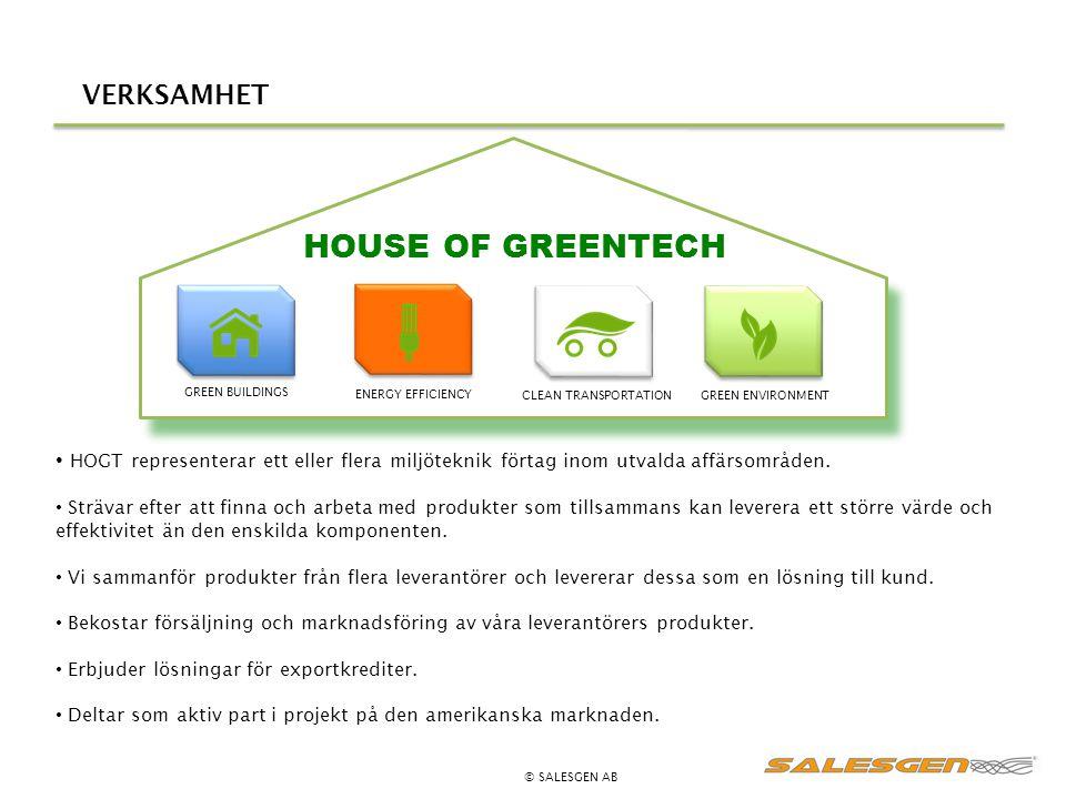 HOUSE OF GREENTECH VERKSAMHET