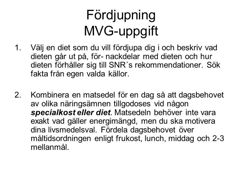 Fördjupning MVG-uppgift