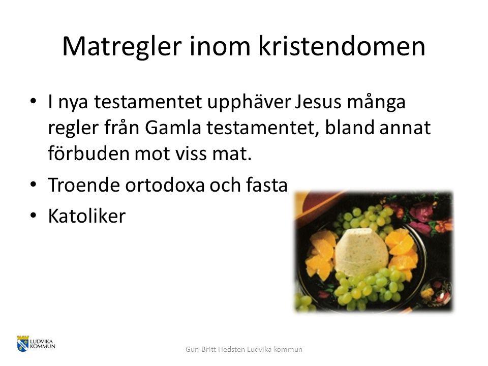Matregler inom kristendomen