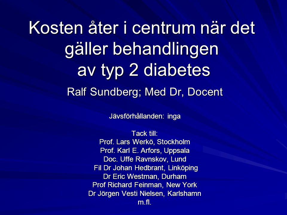 Kosten åter i centrum när det gäller behandlingen av typ 2 diabetes