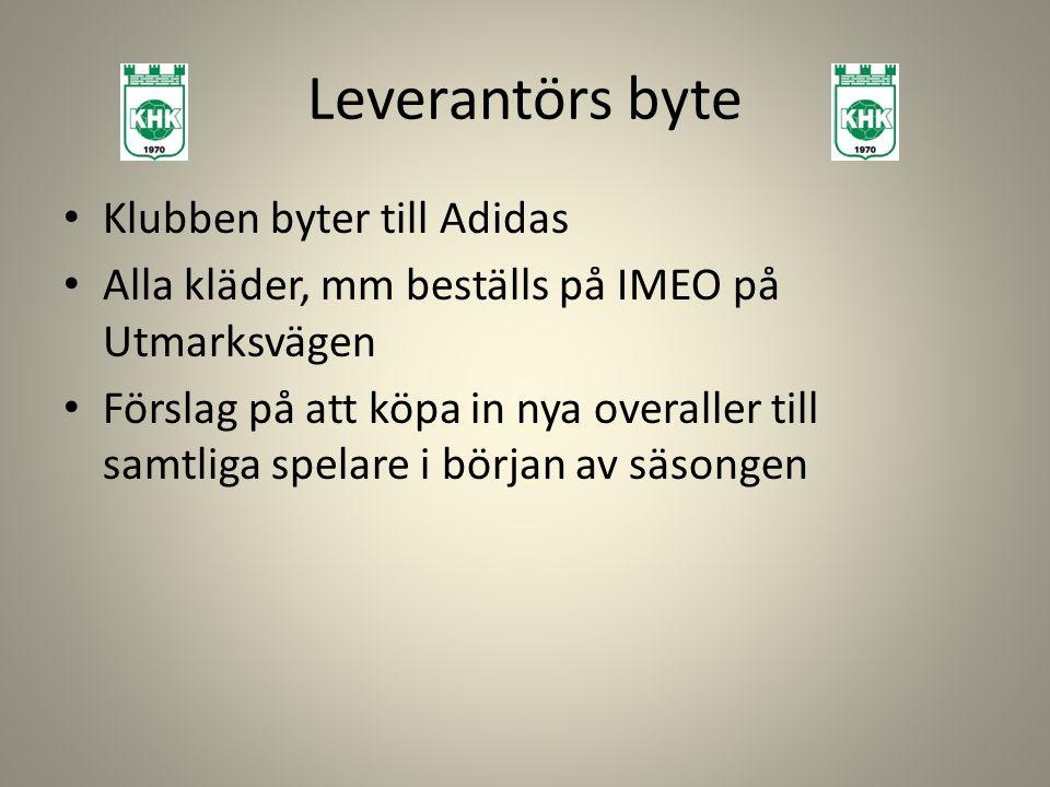 Leverantörs byte Klubben byter till Adidas
