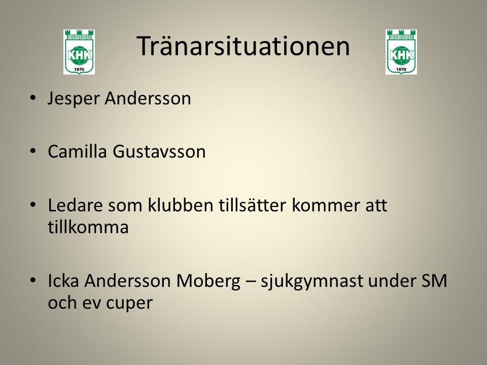 Tränarsituationen Jesper Andersson Camilla Gustavsson