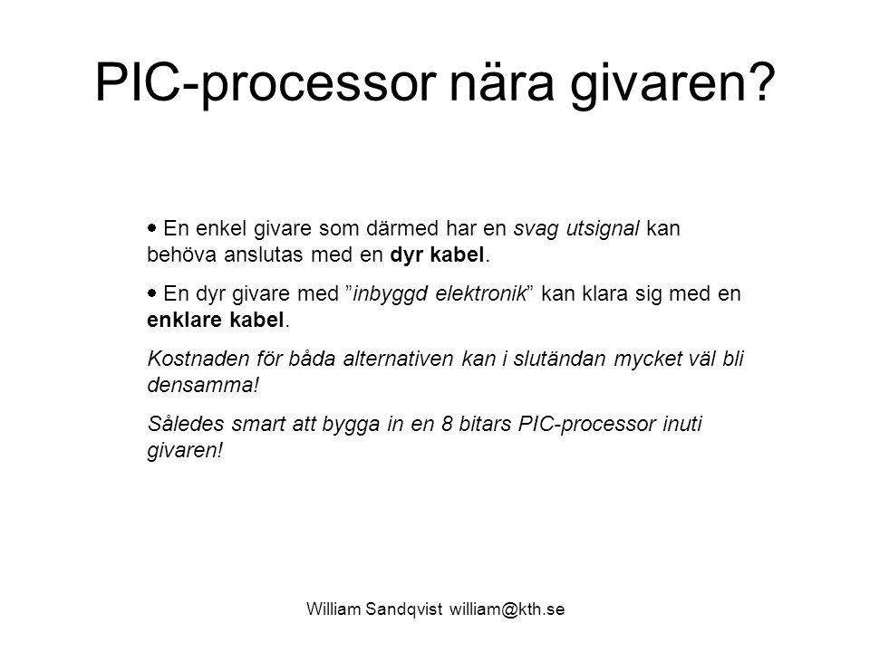 PIC-processor nära givaren