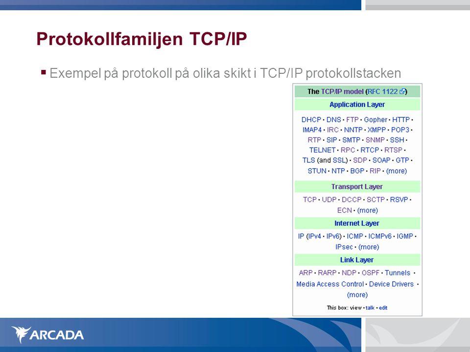 Protokollfamiljen TCP/IP