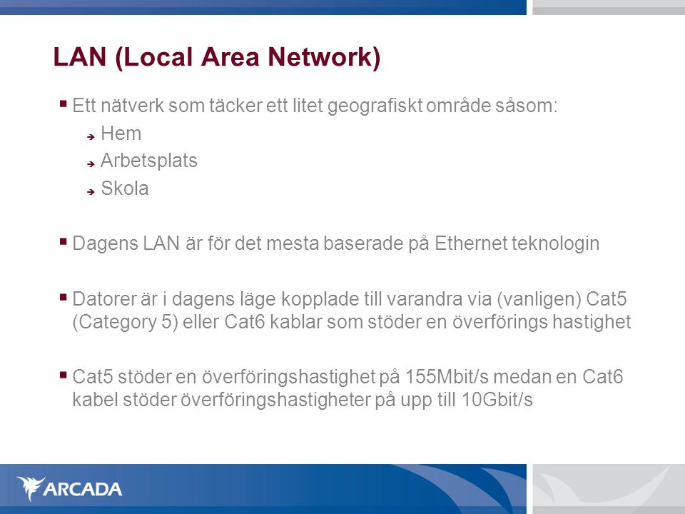 LAN (Local Area Network)‏