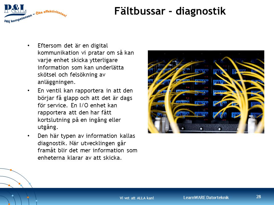 Fältbussar - diagnostik