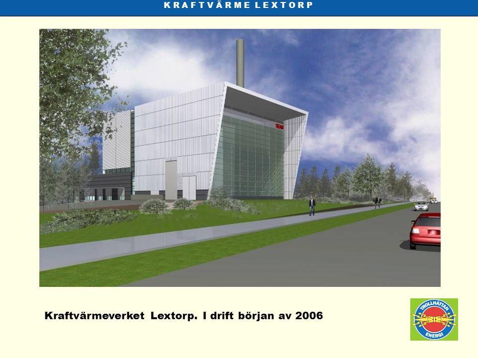 Kraftvärmeverket Lextorp. I drift början av 2006