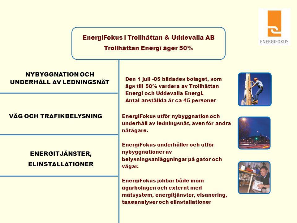 EnergiFokus i Trollhättan & Uddevalla AB Trollhättan Energi äger 50%