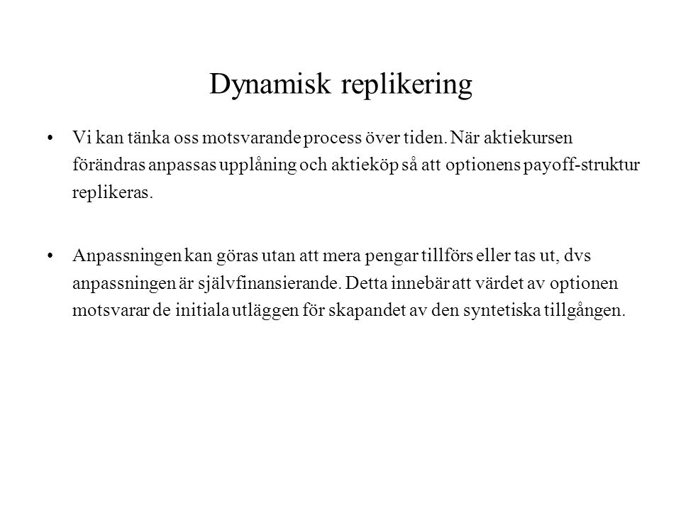Dynamisk replikering