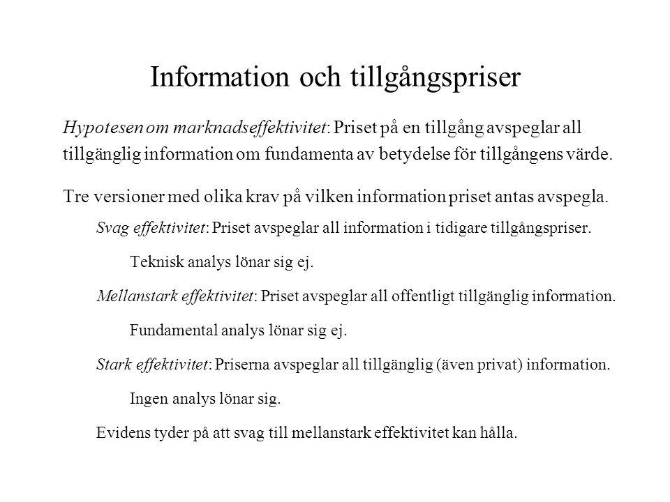 Information och tillgångspriser