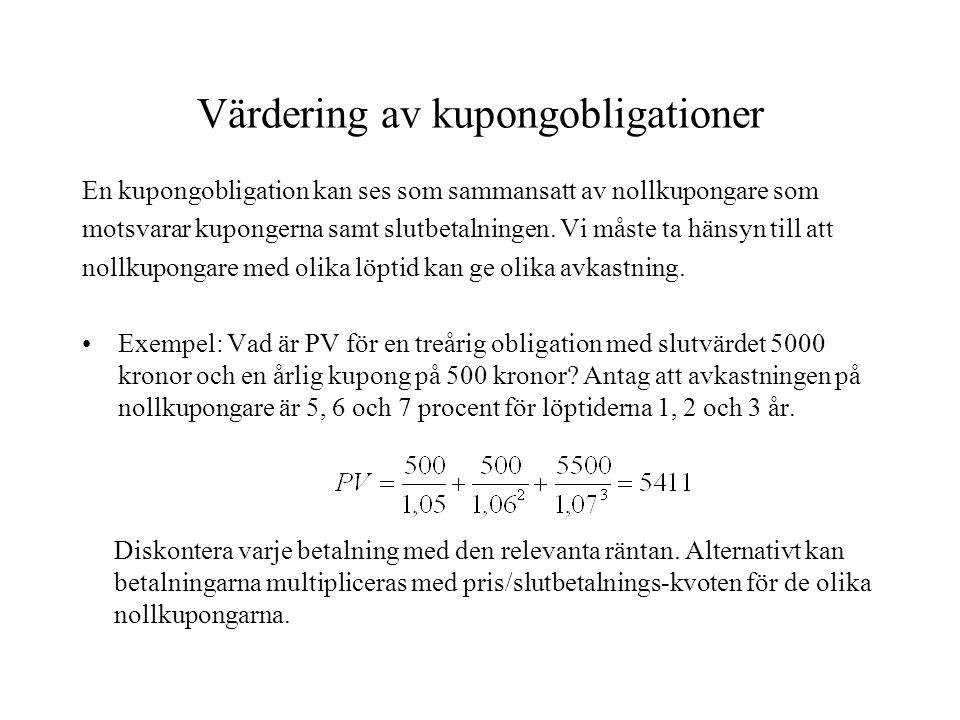 Värdering av kupongobligationer