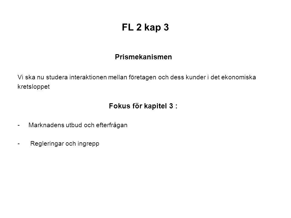 FL 2 kap 3 Prismekanismen Fokus för kapitel 3 :