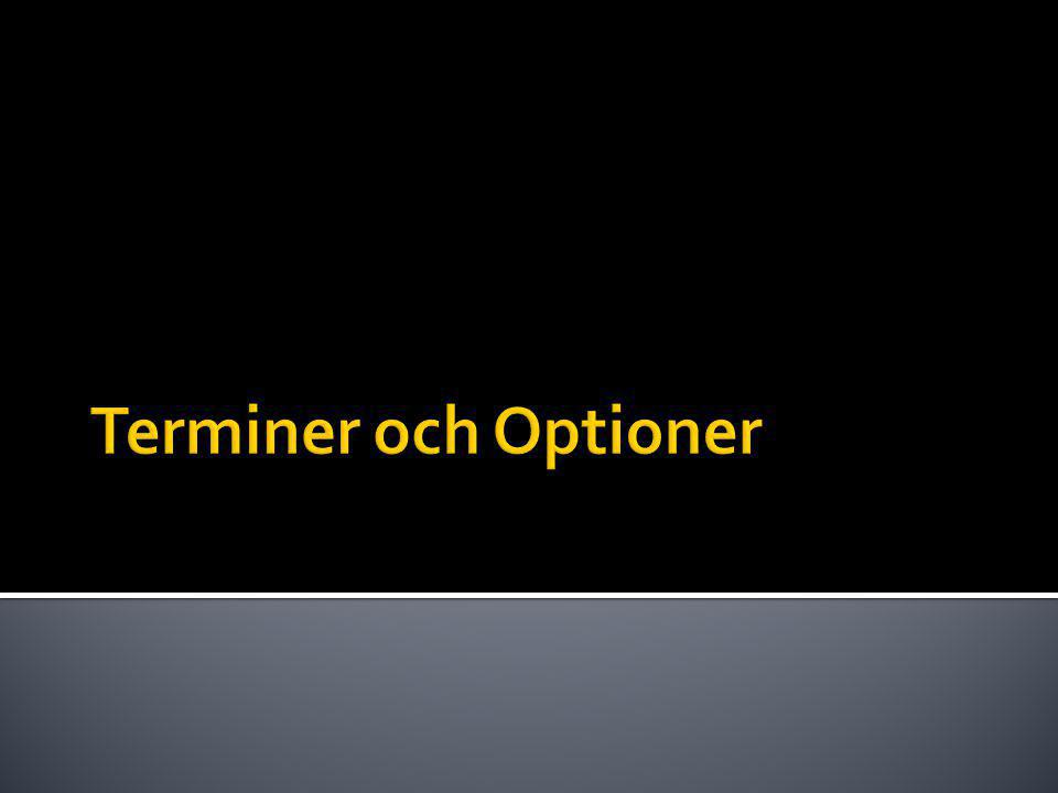 Terminer och Optioner