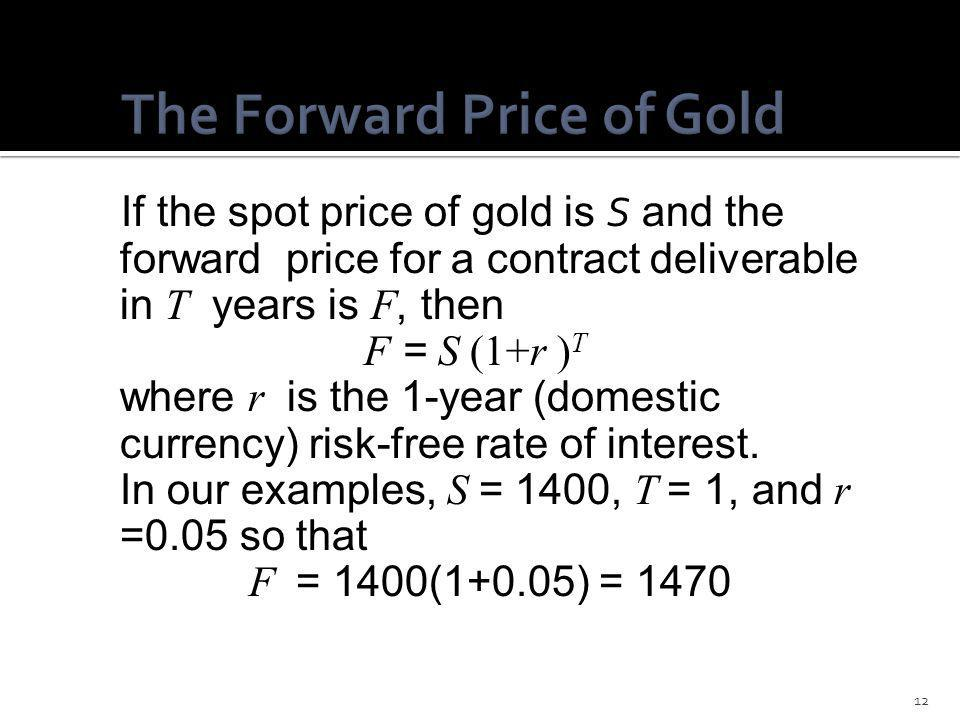 The Forward Price of Gold