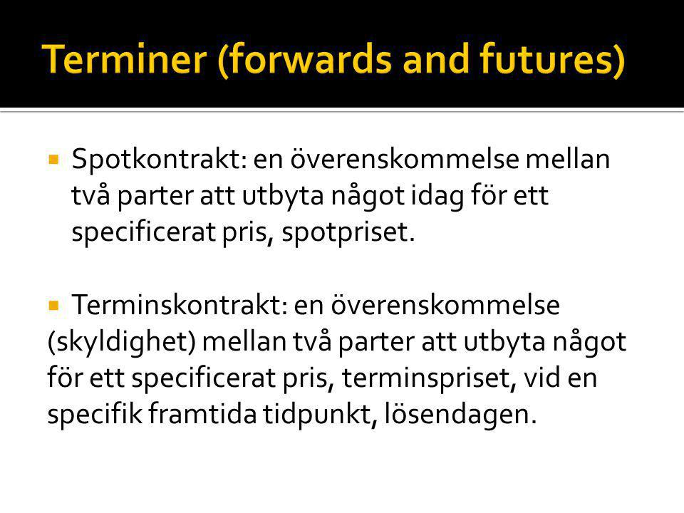 Terminer (forwards and futures)