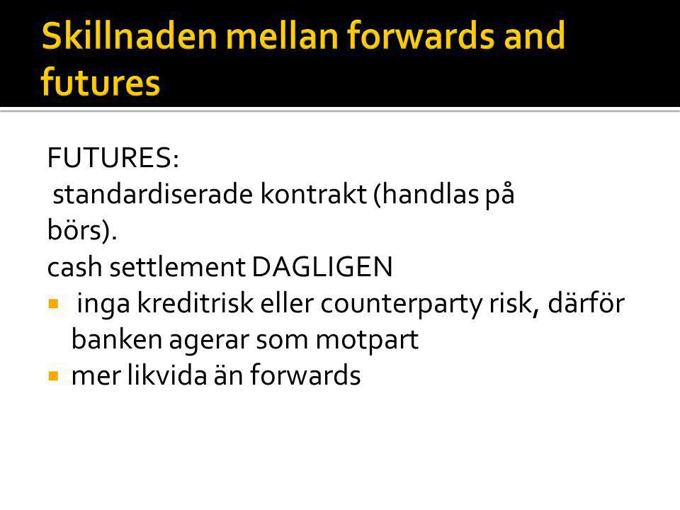Skillnaden mellan forwards and futures