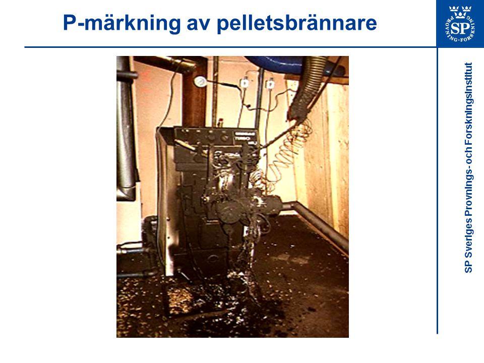 P-märkning av pelletsbrännare