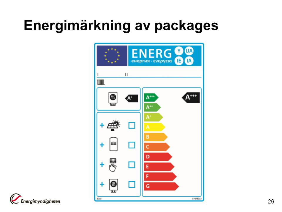Energimärkning av packages