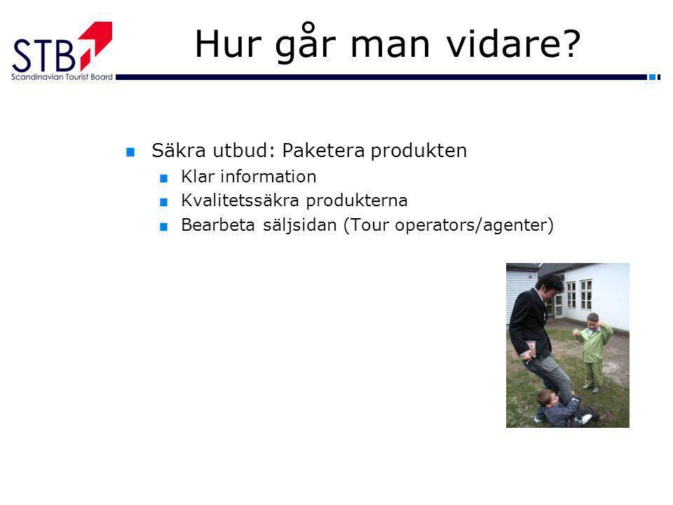 Hur går man vidare Säkra utbud: Paketera produkten Klar information