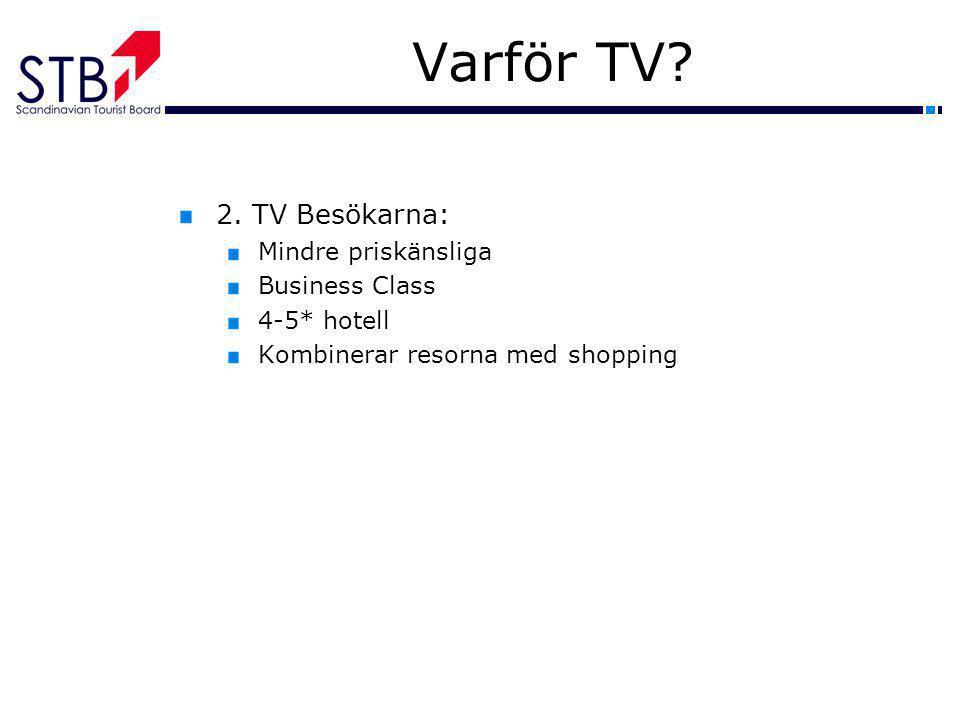 Varför TV 2. TV Besökarna: Mindre priskänsliga Business Class
