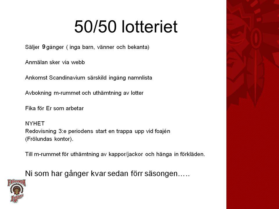 50/50 lotteriet 9 En särskild presentation kommer för detta, föräldrarep är till Er hjälp