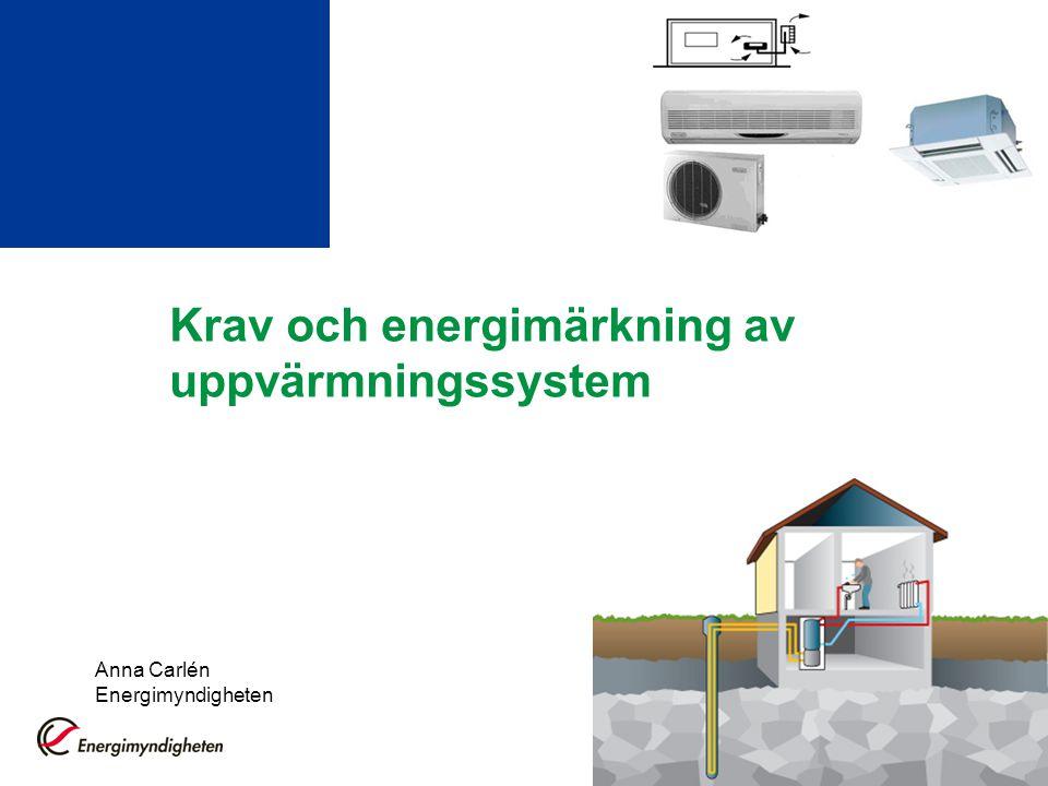 Krav och energimärkning av uppvärmningssystem
