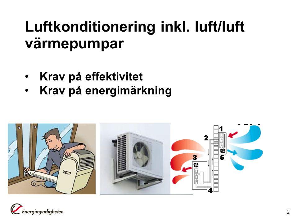 Luftkonditionering inkl. luft/luft värmepumpar