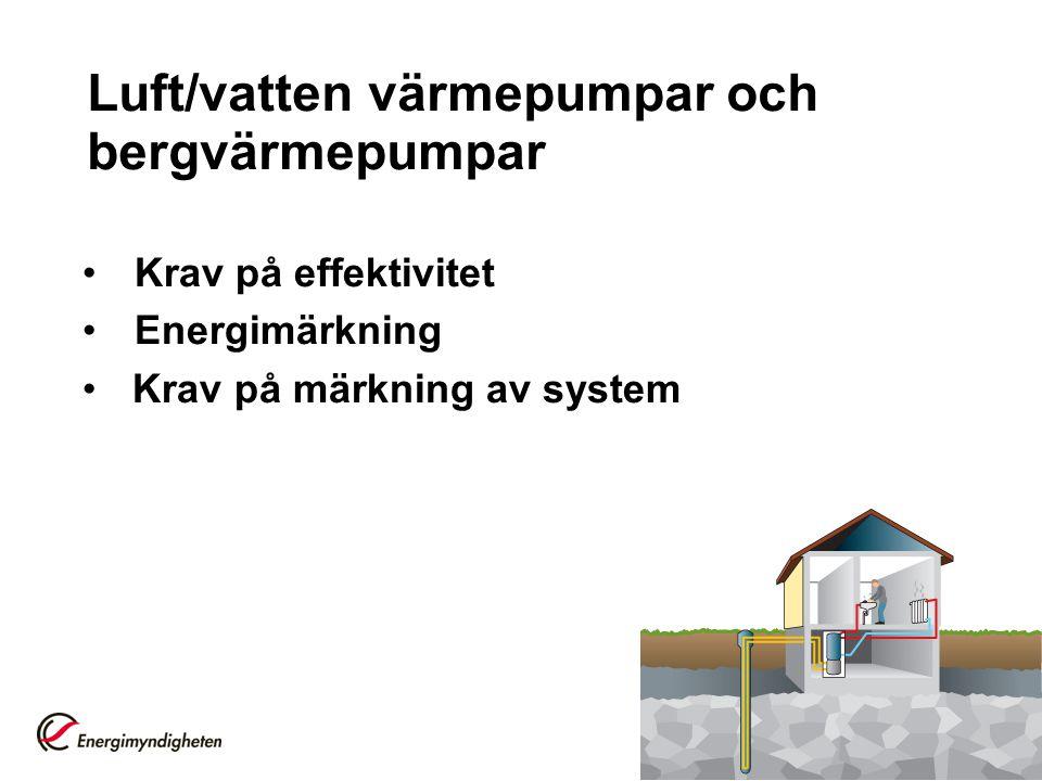 Luft/vatten värmepumpar och bergvärmepumpar