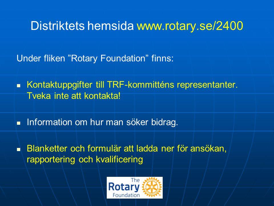 Distriktets hemsida www.rotary.se/2400