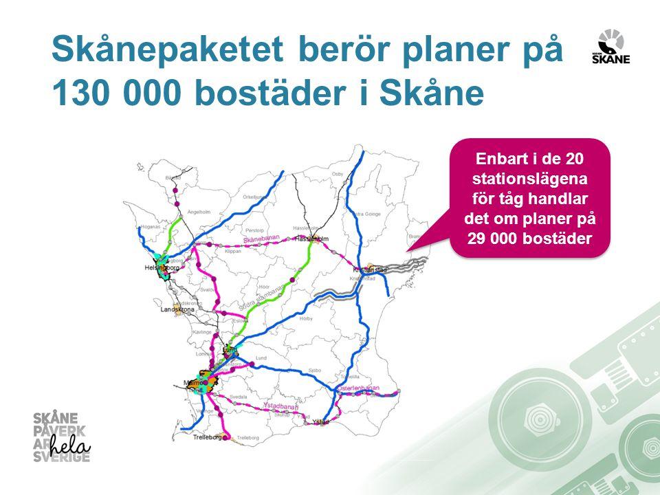 Skånepaketet berör planer på 130 000 bostäder i Skåne