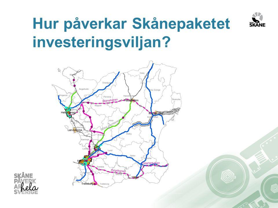 Hur påverkar Skånepaketet investeringsviljan