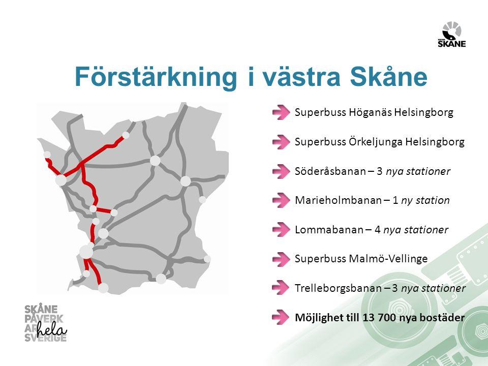 Förstärkning i västra Skåne