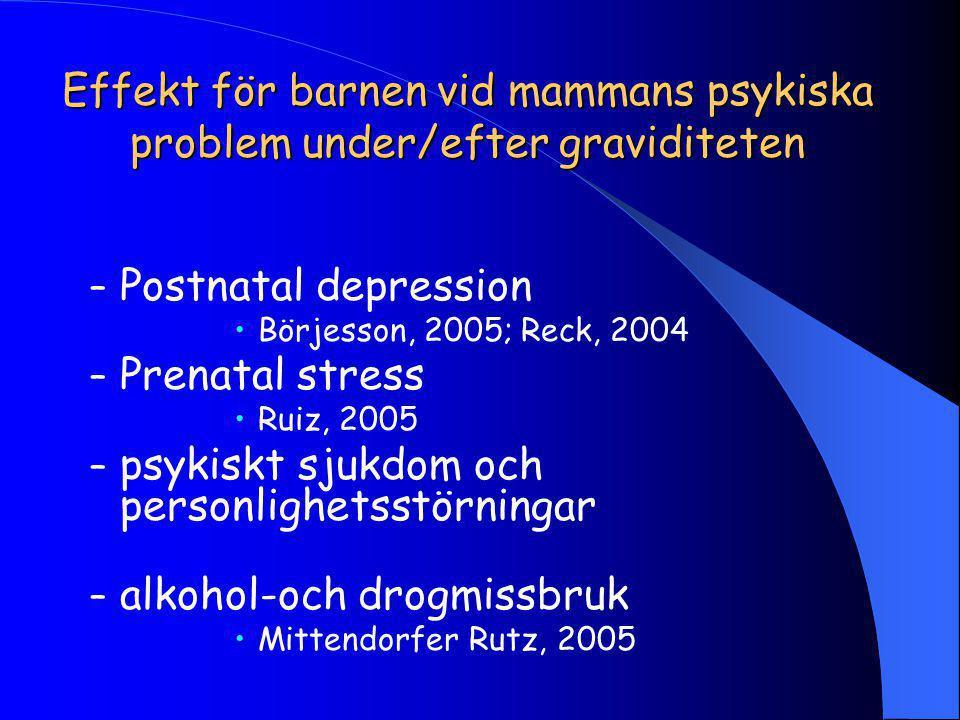 psykiskt sjukdom och personlighetsstörningar